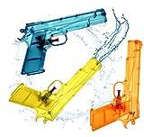 3x Wasserpistolen Set 20 cm Wasserspritzpistole Spritzpistole klein mini Wasser