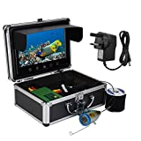 Bewinner Portable Underwater Fishing Camera with Carrying Case 9inch TFT Monitor 30 LEDs