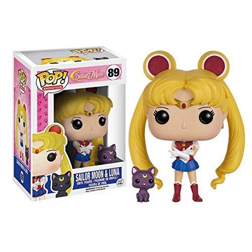 DUYUJIE Funko Pop Sailor Moon Q Version Figure Doll Decoration Model Toys Regali da Collezione
