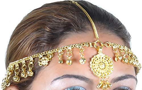 Egypt Bazar Kopfschmuck Bollywood, Tribal Dance Orientalischer-Schmuck. Farbe: Gold