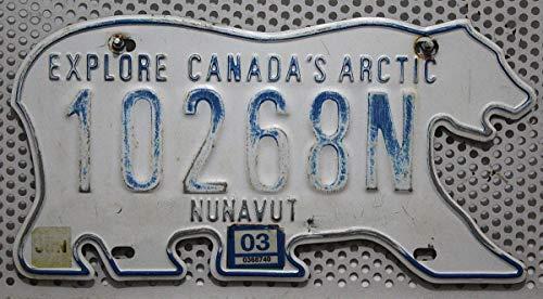 Nunavut Nummernschild, Kanada Autokennzeichen, Canada License Plate, Metallschild
