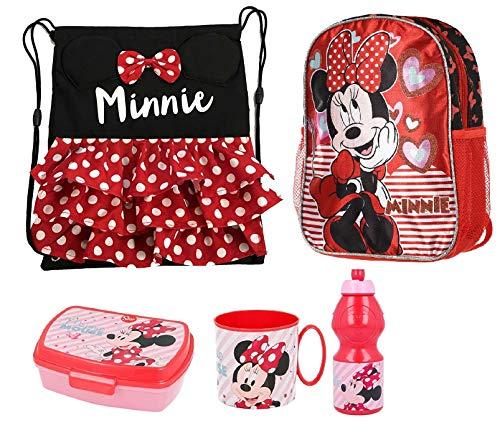 LTP Minnie Mouse Eletric Doll Glitter Zainetto Zaino, Sacca Sport, Porta Merenda Scuola Asilo Tempo Libero