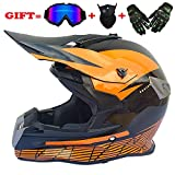 Casco de Moto, Casco Todoterreno, Casco de Cuatro Estaciones-Matt Black KTM_S