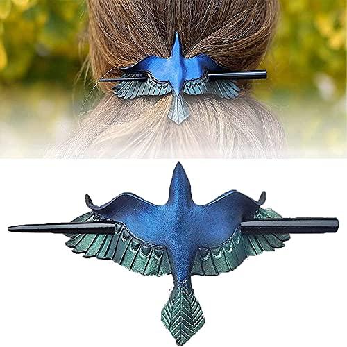NA Skull/Death Moth Clip para el pelo de la polilla de la muerte, alfiler de cráneo para el pelo de hueso sintético, alfiler para accesorios de cabello largo, decoración de Halloween