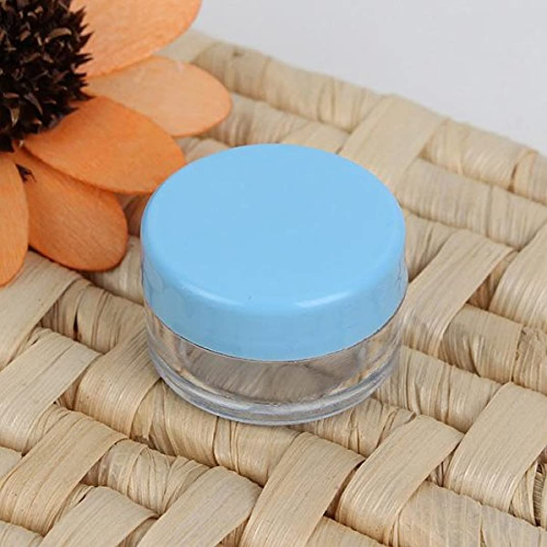 リークアヒルベーカリーGUQQRZCT カラフルな空の化粧品の瓶アイシャドーネイルデカールコンテナ (Color : Color Blue)