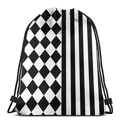 NA Kordelzug-Rucksack, Halloween-Mix-Muster, tragbarer Sack, Aufbewahrungstasche für Camping, Wandern, Schwimmen, Einkaufen, Wandern, Reisen, Strand