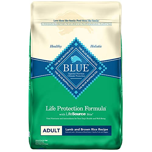 Blue Buffalo Life Protection Adult Lamb and Brown Rice Recipe Dry Dog Food, 15 lbs
