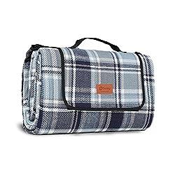 Sekey wasserdichte Picknickdecke für Draußen mit tragbarem Griff aus drei Schichten 200 x 200cm