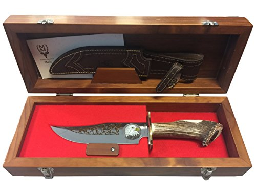 Read About Muela Knives Hand Etched Knife with Limited Edition Bald Eagle Engraving and Presentation...