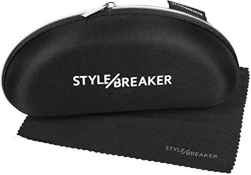 styleBREAKER custodia per occhiali da sole con pannetto, softcase con cerniera, portaocchiali 09020057, colore:Nero