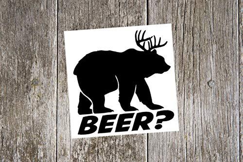 Bier? Funny Custom Vinyl Sticker, cadeau voor vader, vaderdaggeschenk, jachtsticker, bierliefhebber, jachtsticker, cadeau voor jager