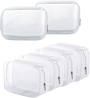 Clear Toiletry Carry Pouch with Zipper Portable PVC Waterproof Cosmetic Bag for Vacation Travel Bathroom and Organizing (6...