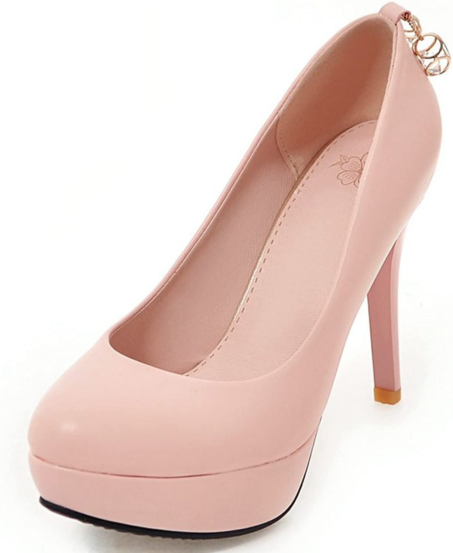 KingRover Women's Classic Elegant Stiletto High Heel Slip On Pull On Dress Platform Pumps shoes