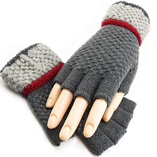 Fingerlose Handschuhe für den Winter, weich, warm, elastisch, Schwarz, Damen, G120 Gray, Einheitsgröße