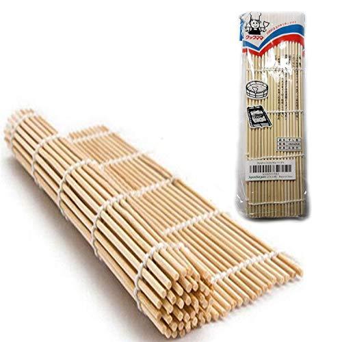 JapanBargain 1574, Sushi Roller Bamboo Sushi Rolling Mat Maker 10.5 inch Square