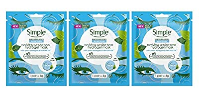 Simplé Water Boost Reviving Under-Eye Hydrogel Plant Collagen Mask 4g (Pack of 3)