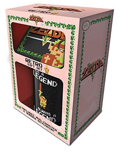 The Legend Of Zelda Retro Coffret cadeau - Mug, Sous-verre, Porte-clef, Multicolore, 11oz/315ml