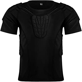 Children Impact Compression Padded Shirts Soccer Basketball Skateboarding Chest Protective Gear