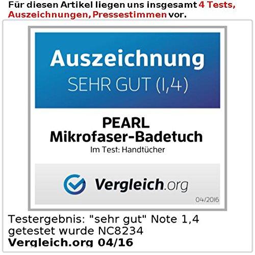 PEARL Mikrofaser-Duschtuch 140 x 70 cm, blau
