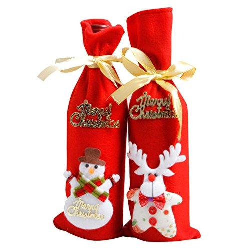 So-buts Housse pour bouteille de vin Motif Noël...