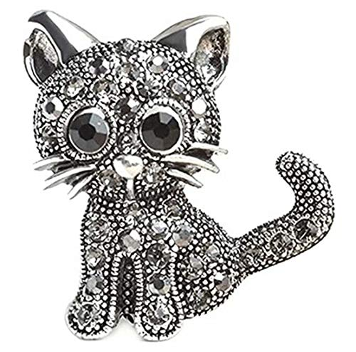SUNMUCH Crystal Cat Brooches Pins Christmas Wedding Gift for Women