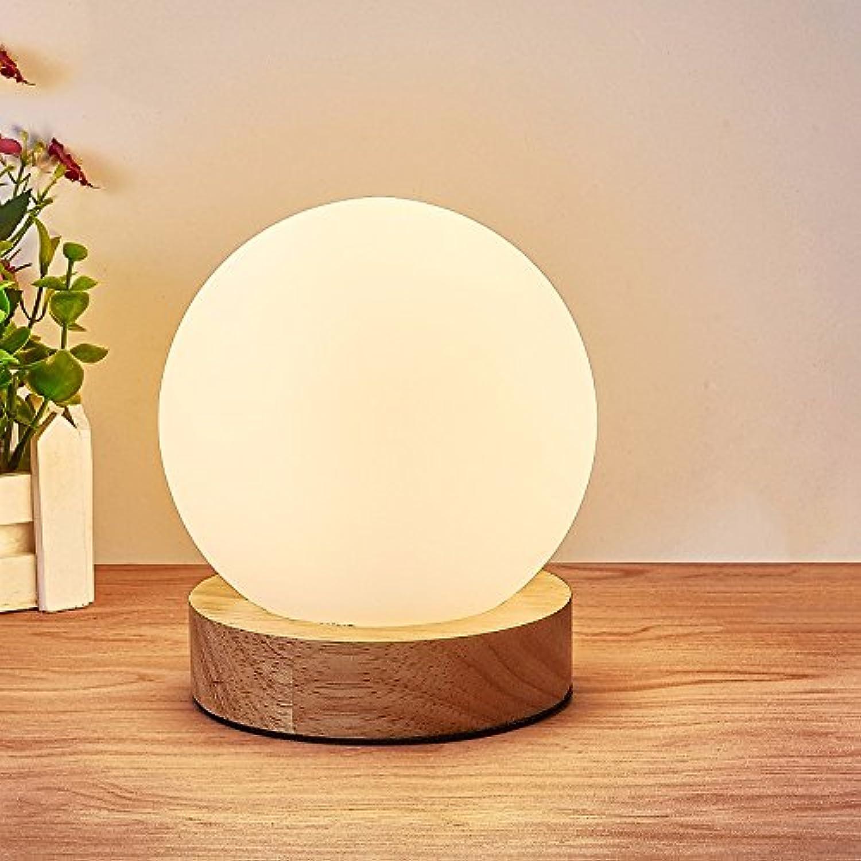 Einfache Schlafzimmer Nachttischlampe, Holz LED Augenschutz Leselampe, 8-W-LED, 7. B074FTT8G7 | Qualitätskönigin