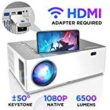 BOMAKER Native 1080p Full HD Projector, 6500 Lux, 8000:1 Contrast Ratio, 50%...