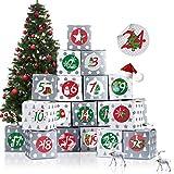 Adventskalender zum Befüllen, Adventskalender Boxen, 24 Adventskalender Schachteln, Weihnachten...