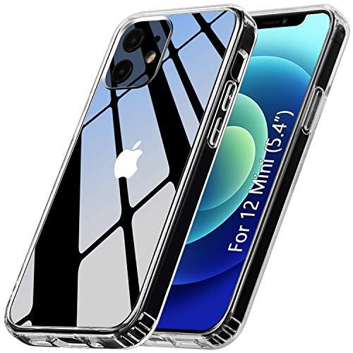 ANEWSIR Hulle Kompatibel mit iPhone 12 Mini 54 Zoll Hulle Schutzhulle Transparent