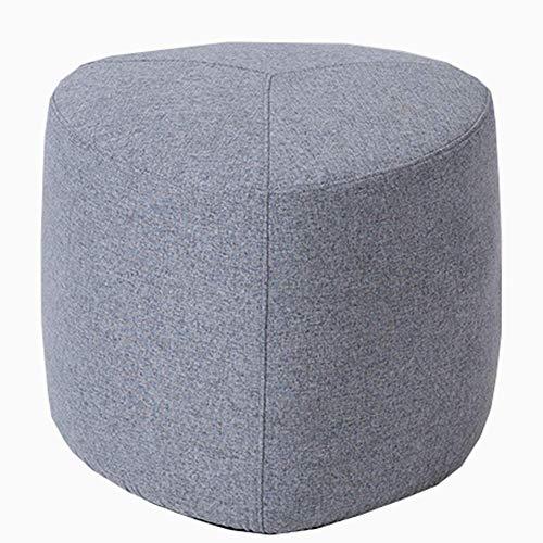 Slaapzak, voetenbank, kruk, salontafel, katoen, linnen, ademend, afneembaar, voor huis, structuur van massief hout, kruk, sofa (kleur: geel) grijs.