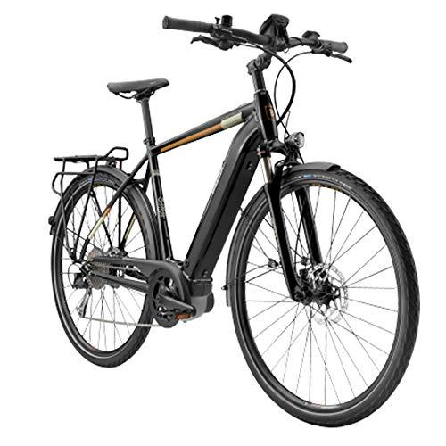 breezer E Trekkingrad 28 Zoll Evo 1.5+ 700c E-Bike Pedelec 700c Touren (schwarz/Messing, 60 cm)