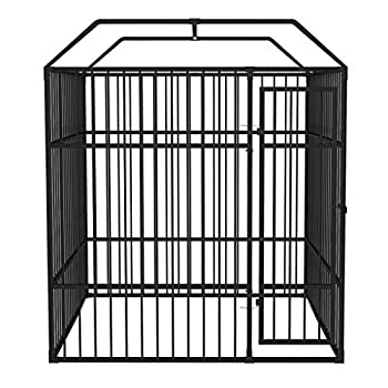 vidaXL Chenil Extérieur Robuste pour Chiens 2x2x2,3 m Acier Cage Enclos Jardin
