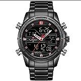 TAHMM EXCLVEA Digital Sport Watch Impermeabile LED Dual Digital Gestore Digitale Stile Militare Uomo Orologio da Polso (Colore: 02, Dimensione: Taglia Unica) (Color : 05, Size : One Size)