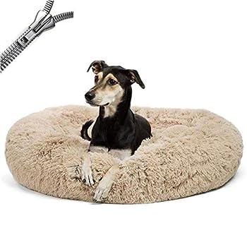 Puppy Love Panier Chien, Coussin Chien Anti Stress XXXL Dehoussable, Paniers Et Mobilier pour Chiens, Orthopedique Lit Apaisant Comfy pour Chien, Améliorer Le SommeilBrown-80cm