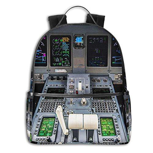 Schulrucksack Schultaschen Mädchen Teenager Rucksack Schultasche Schulrucksäcke wasserdichte Backpack für Damen Herren Geeignet für 14 Zoll Notebook Flugzeug-Cockpit