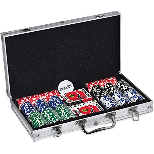 MasterPieces NHL Chicago Blackhawks 300-Piece Poker Chip Set, Team Colors, one Size (CBL3153)