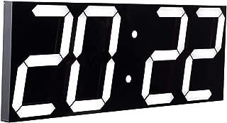 CHKOSDA Remote Control Jumbo Digital Led Wall Clock, Multifunction Led Clock, Large Calendar, Minute Alarm Clock, Countdown Led Clock, Big Thermometer, Mute Clock (Black Shell)