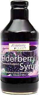 Organic Elderberry Liquid Syrup 24 oz by Elderberry Queen, Sambucus, Aronia Berry, Pure Natural Certified Organic Immune Support Herbal Supplement