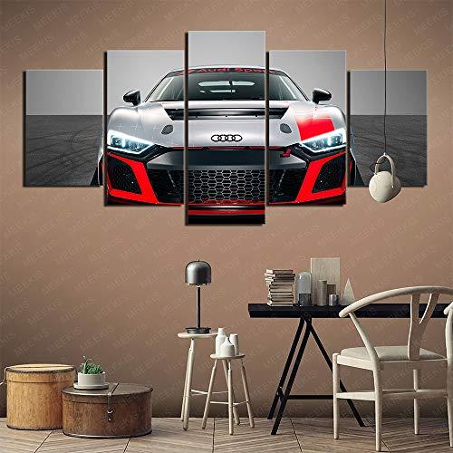YITUOMO Leinwand gedruckt Poster 5 Stück Home Decoration Gemälde (Audi R8 LMS GT4) Poster HD-Drucke, Kunstwerk Geschenk 150x80cm Rahmenlos