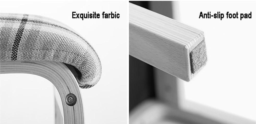 HURONG168 Chaises de cuisine Chaise de salle à manger en tissu en bois massif café simple siège lounge (Couleur : B) A