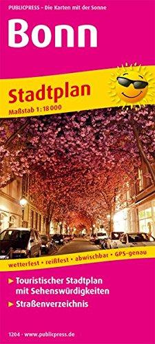 Bonn: Touristischer Stadtplan mit Sehenswürdigkeiten und Straßenverzeichnis. 1 : 18 000 (Stadtplan: SP)