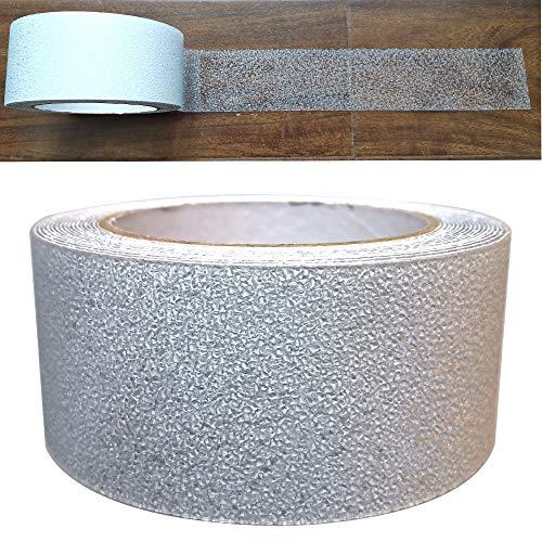 Gebildet Cinta Antideslizante Seguridad de Caucho, Cinta Adhesiva Respaldados, Alta Tracción Fuerte Apretón Abrasivo, Usar Interiores y Exteriores (5M×5cm, Transparente)