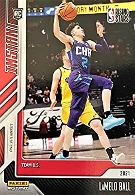 2021 Panini LaMELO BALL Rookie Card Rising Stars Basketball Card - One of Only 1927 Cards Printed - Charlotte Hornets