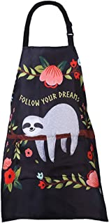 MissOwl Adjustable Home Kids Artists Aprons with Pockets Cute Animal Print Child Kitchen Bib Aprons for Boys and Girls Coo...