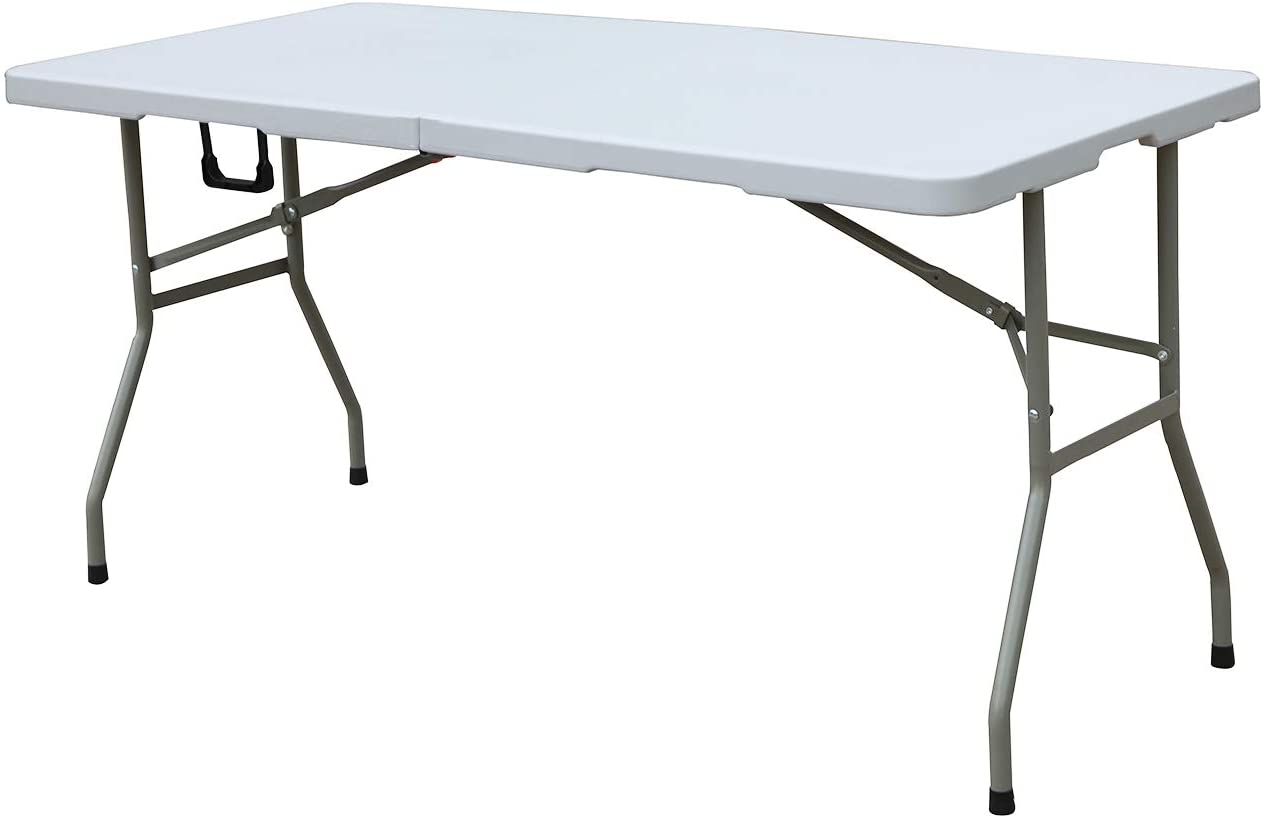 sogesfurniture Folding Table Max 66% OFF 60 by Blo 27.9 Fold-in-Half inches OFFer