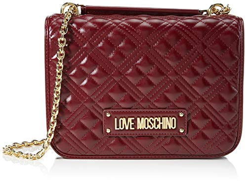 Love Moschino JC4200PP0BKA0, Borsa A Spalla Donna, Vino, Normale