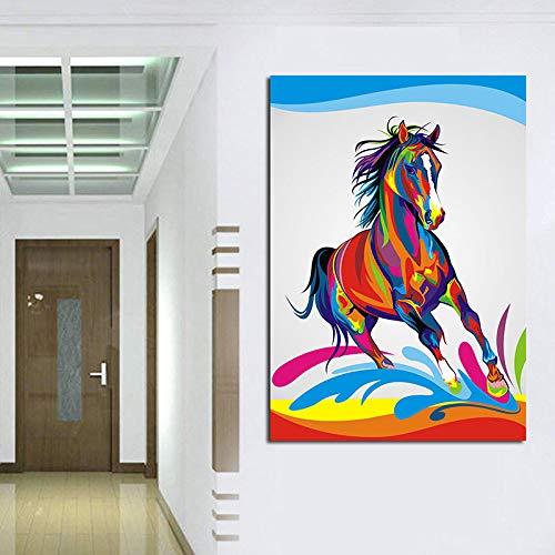 Geiqianjiumai HD-Druck Aquarell Wildtier Moderne Poster Ölgemälde und Wohnzimmer Sofa Home Dekoration Malerei Bild rahmenlose Malerei 30x45cm