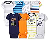 Onesies Brand Baby Boys' 8-Pack Short-Sleeve Bodysuit, Dog, 3-6 Months