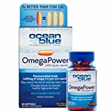 Oceanblue Professional OmegaPower - 30 Count - 2 Pack - Omega 3-1050mg EFA