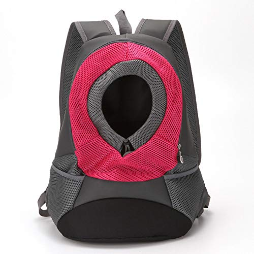 WWWL Mochila para mascotas con doble hombro, portátil, mochila de viaje al aire libre, bolsa de transporte para mascotas, perro, bolsa frontal de malla, mochila para cabeza S